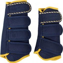 Catago diamond dressuur boots blauw-geel