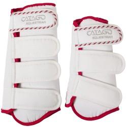 Catago diamond dressuur boots wit-rood