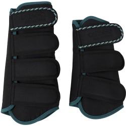 Catago diamond dressuur boots zwart-turquoise