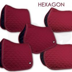 Fair Play sjabrak Hexagon dubbel koord burgundy